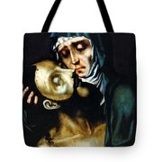 Mary And Jesus Painting At Peace Center Tote Bag