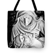 Mary Cradling Jesus Tote Bag