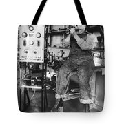 Mary Loomis, Radio School Operator Tote Bag by Science Source