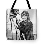Mary Pickford (1893-1979). Born Gladys Mary Smith. American Actress, With A Movie Camera On A Beach, C1916 Tote Bag