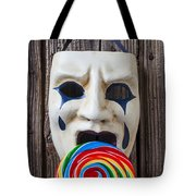 Mask Licking Sucker Tote Bag