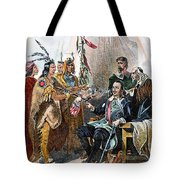 Massasoit & Carver, 1620 Tote Bag