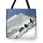 Massif Of Sancy In Winter. Puy De Dome. Auvergne Tote Bag