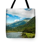 Massive Cloudy Sky Above The Wilderness Tote Bag