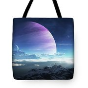 Massive Lei Gong Rises In The Distance Tote Bag