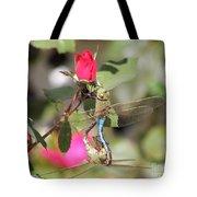 Mating Dragonfly Tote Bag