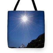 Matterhorn With Sunbeam Tote Bag
