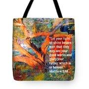 Matthew 5 Tote Bag