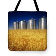 Mature Winter Wheat Field With Grain Tote Bag by Dave Reede