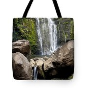 Mauis Wailua Falls And Rocks Tote Bag