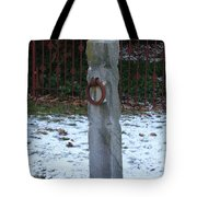 Mauricetown Hitching Post  Tote Bag