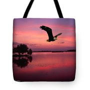 Mauve Sundown Eagle  Tote Bag