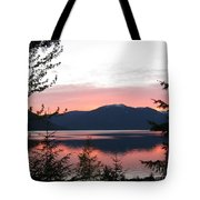 May Sunset On Kootenay Lake Tote Bag