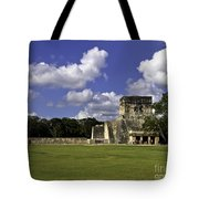 Mayan Ball Court Tote Bag