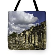Mayan Colonnade Tote Bag