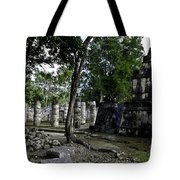 Mayan Colonnade Two Tote Bag