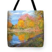 Mayslake At Fall Tote Bag by Judith Barath