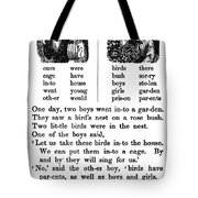 Mcguffeys Primer, C1840 Tote Bag