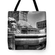 Mckinley Memorial In Black And White Tote Bag