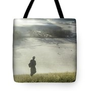 Me Above Round Valley Tote Bag