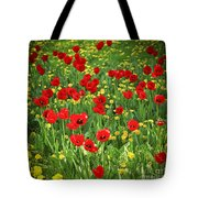 Meadow With Tulips Tote Bag