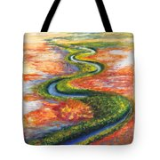 Meandering River In Northern Australian Channel Country Tote Bag