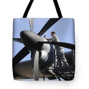 Mechanic Finishes Moving An Engine Tote Bag