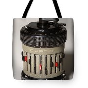 Mechanical Calculator Tote Bag