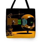 Mechanical Oculist Green Tote Bag