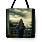 Medieval Lady Watching The Sea Tote Bag