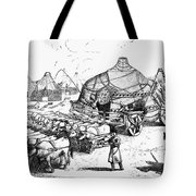 Medieval Tartar Huts Tote Bag