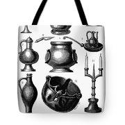 Medieval Utensils Tote Bag