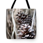 Dry Mediterranean Pinecone With Winter Colors Tote Bag