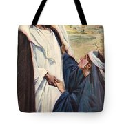 Meeting Of Jesus And Martha Tote Bag