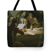 Meeting Of The First Partisans Resisting The Occupiers Tote Bag