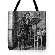 Meissonier: Flute Player Tote Bag