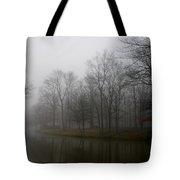 Melancholy Foggy Evening Tote Bag