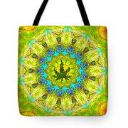 Mellow Yellow Mandala Tote Bag