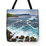 Melting Iceberg In Newfoundland Tote Bag by Elena Elisseeva