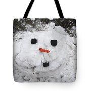 Melting Snowman Tote Bag