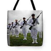 Members Of A Ceremonial Honor Guard Tote Bag