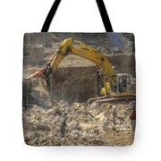 Men At Work Construction Site Tote Bag