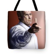 Men Must Know Their Limitations-clint Eastwood Tote Bag by Reggie Duffie