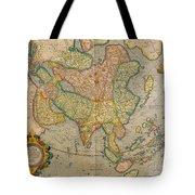 Mercators Map Of Asia Tote Bag
