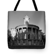 Merchant Exchange Building - Philadelphia In Black And White Tote Bag