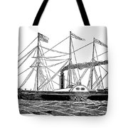 Merchant Steamship, 1838 Tote Bag