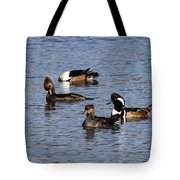 Mergansers After The Rain Tote Bag