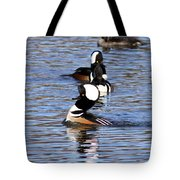 Mergansers All In A Row Tote Bag
