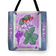 Merlot Fine Wines Orchard Box Label Tote Bag
