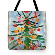Merry Christmas Tree Fairies In Progress Tote Bag